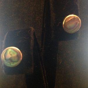 Abalone Shell & Sterling Stud Earrings
